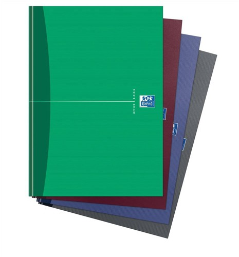 Oxford Office Notebook Casebound Hard Cover Ruled 192pp 90gsm A5 Assorted Ref 100103072 [Pack 5]
