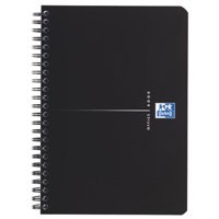 Oxford Office Notebook Wirebound Polypropylene Ruled 180pp 90gsm A5 Smart Black Code 100103627