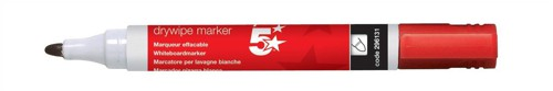 5 Star Office Dry Wipe Marker Red 449653