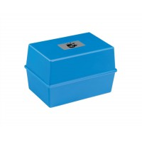 Image for 5 Star Card Index Box Capacity 250 Cards 5x3in 127x76mm Blue