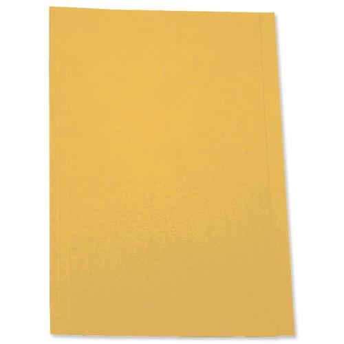 5 Star Square Cut Folder 250g Fcp Yellow