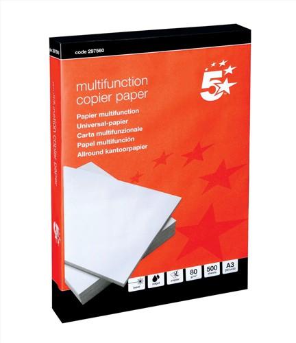 5 Star Office A3 Copier White 80gsmPk500