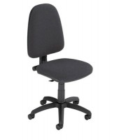 Image for Trexus Office Operator Chair Permanent Contact High Back H500mm W460xD430xH460-580mm Charcoal