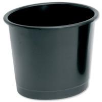 Image for 5 Star Plastic Waste Bin Black