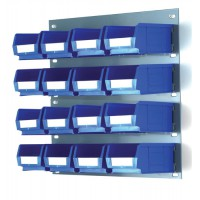 Image for Barton Storage TP1 Kit Louvered Panel W457xH438mm 16 x TC2 Container Bins W165xD100xH75mm Ref 010171/B