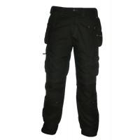 Image for Dewalt Low Rise Trousers Metal-zip Holster-pockets Waist 40in Leg 31in Black Ref DWC17/001 31x40