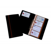 Image for Business Card Book Professional Ring Binder with A-Z Index Capacity 128 Cards