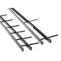 GBC SureBind Secure Binding Strips 25mm 10 Prongs Bind 250 Sheets A4 Black Pack 100 Code 1132850