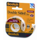Scotch Double Sided Tape Permanent Long-life 19mmx32.9m Clear Ref 6651933