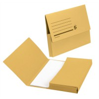 Image for 5 Star Document Wallet Fcap 285gsm Yllow