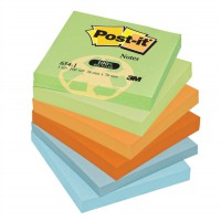 Image for 3M Post-it Note Recycled Pastel Pack of 12 76x76mm 654-1RP