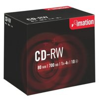 Image for Imation CD-RW 700Mb/80minutes 4X-10X in Jewel Case Pack of 10 i19002