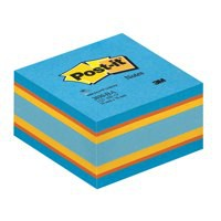 Image for 3M Post-it Note Cube Balance Blue 2030-B