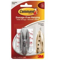 Image for 3M Command Adhesive Medium Oval Hook Pack of 2 White 17081