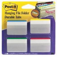 Image for 3M Post-it Durable Hanging File Tab Angled Pack of 24 686-A1