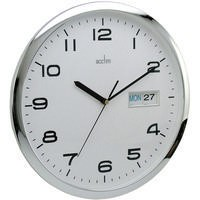 Image for Acctim 320mm Chrome/White Wall Clock