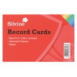 Concord Record Card 6x4 inches Assorted Pack of 100 16199/161