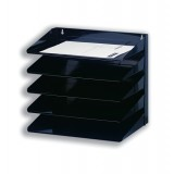 Avery Organisers 605S 5 Tier Letter Rack Black Steel Wall or Desk Mounted 335x380x230 Code 605SBLK