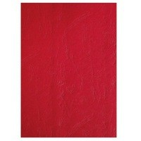 GBC A4 Binding Covers 250gsm Textured Leathergrain Plain Red Pack 100 Code CE040030