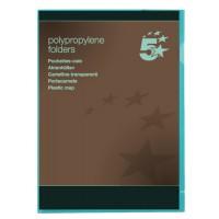 Image for 5 Star Folder Cut Flush Polypropylene Copy-safe Translucent A4 Green [Pack 25]