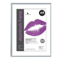 Image for Photo Frame Clip In Aluminium with Clear Styrene Front A4