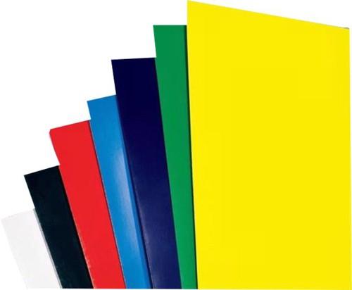 Rexel Gloss White Plain Comb Binding Covers 48900 Pack 100 Code CE020071