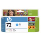 HP No.72 Inkjet Cartridge 130ml Cyan Code C9371A