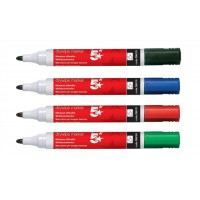Image for 5 Star Drywipe Marker Xylene/Toluene-Free Bullet Tip 3mm Line Assorted [Pack 12]