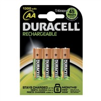 Image for Duracell Battery Rechargeable Accu NiMH 1300 mAh AA Ref 81367177 [Pack 4]