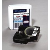 Dymo D1 Tape For Labelmaker Polyester Permanent 12x5.5mm Black On White Code S0718060