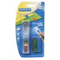Image for Rapesco Supaclip 40 Dispenser with 25 Clips for 40 Sheets of 80 gsm Multicoloured Ref RC4025MC