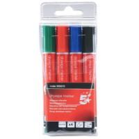 Image for 5 Star Drywipe Marker Xylene/Toluene-Free Bullet Tip 3mm Line Assorted [Pack 4]