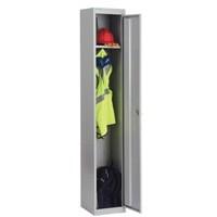 Image for Bisley Locker Steel 1-Door W305xD305xH1802mm Goose Grey Ref CLK121-73