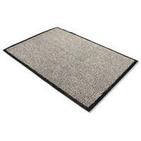 Image for Door Mat Dust and Moisture Control Polypropylene 900mmx1500mm Black and White
