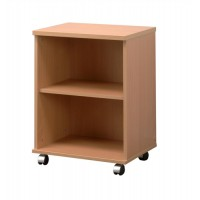 Image for Trexus Mobile Printer Storage Stand with Adjustable Shelf W530xD400xH720mm Beech
