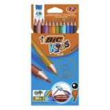Bic Kids Evolution Colouring Pencils Wallet of 12 Assorted Code 829029