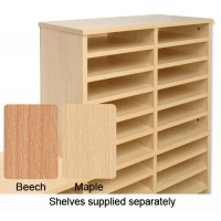 Image for Tercel Post Room Sorter Hutch Add-on Single Height 2 Bay Can Fit 12 Shelves W640xD360xH620mm Maple