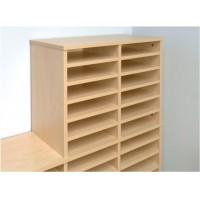 Image for Tercel Post Room Shelves for Sorter Base Maple [Pack 5]