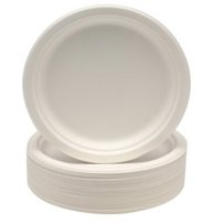 Plates Rigid Biodegradable Microwaveable Diameter 230mm [Pack 50]