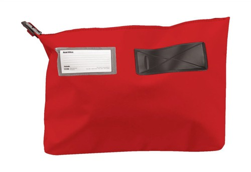 Versapak Mailing Pouch Gusseted Bulk Volume Sealable with Window PVC 510x406x75mm Red Ref CG6 RDS