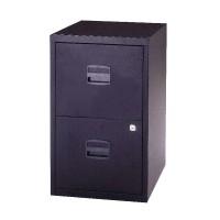 Image for &Trexus A4 2Drw Cabinet Black Pfa2