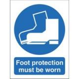 Stewart Superior Foot Protection Must Be Worn Self Adhesive Sign Code M003SAV