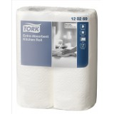 Lotus Kitchen Towels Recycled 2-Ply 220x229mm Sheets 56 Per Roll White Code J9300