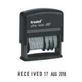 Trodat EcoPrinty 4817 Self Inking Dial-A-Phrase Date Stamp Black
