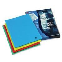 Image for Rexel Cut Back Folder Polypropylene Copy-secure Embossed Finish A4 Assorted Ref 12223AS [Pack 100]
