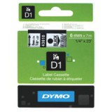Dymo D1 Tape for Electronic Labelmakers 6mmx7m Black on Clear Code S0720770