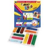 Bic Kids Visa Felt Tip Pens Ultra-washable Water-based Fine Tip Assorted Code 887838