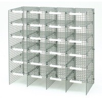 Image for Versapak Mailsorter Adjustable Plastic-Coated Steel 24 Compartments W1067xD381xH1067mm Grey Ref MSU24-GYS