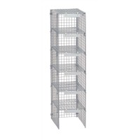 Image for Versapak Extra Mailsorter Column Plastic-Coated Steel 6 Compartments W267xD381xH1067mm Grey Ref MSC1-GYS