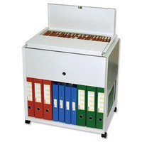 Image for Filing Trolley Steel Capacity 120 A4 or Foolscap Files Grey